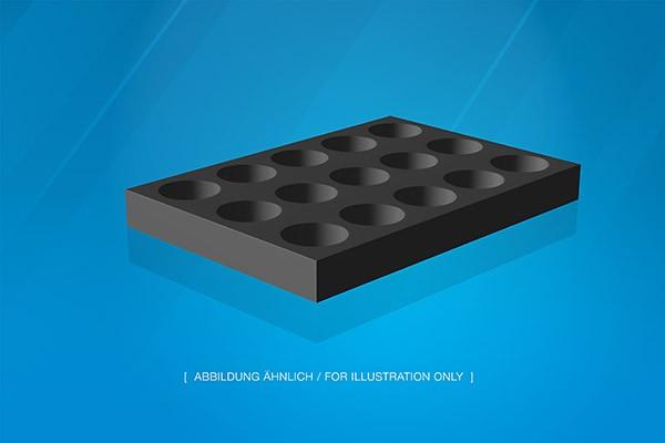 Graphitauflage 300x210x30mm, 15xD47mm
