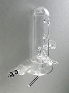 Tandem-Sprühkammer aus Quarzglas