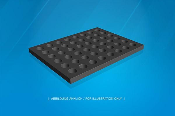 Graphitauflage 400x300x20mm, 48xD30mm